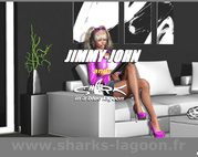 Jimmy John And Shark In A Blue Lagoon